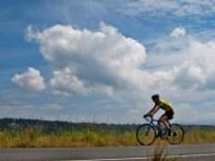 One rider, big sky.
