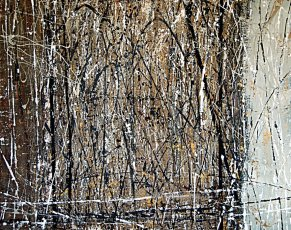 """Tangie Pape Belmore - Golden Thicket, Acrylic & Mixed Media, 48"""" x 60"""""""