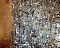"Tangie Pepe Belmore - Wetland Frost, Acrylic & Mixed Media, 60"" x 48"""