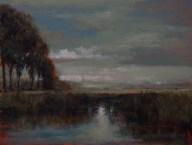 Sandee Burman - Passing Clouds - Oil on Board