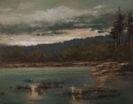 Sandee Burman - Waters Edge - Oil on Board