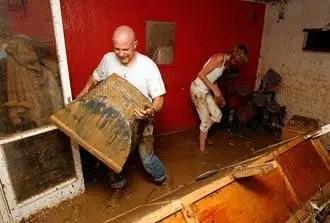 bad flood damaged home