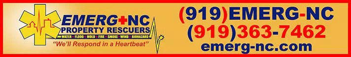 Emerg+NC property rescuers logo and phone numbers