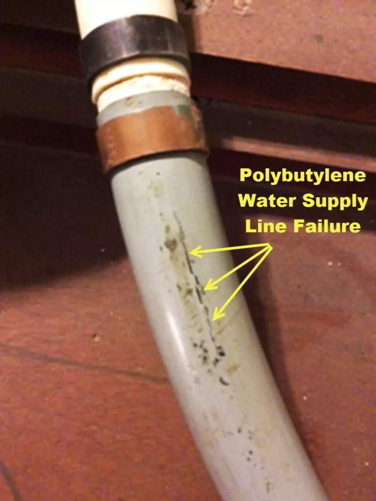 Polybutylene Water Supply Line Failure