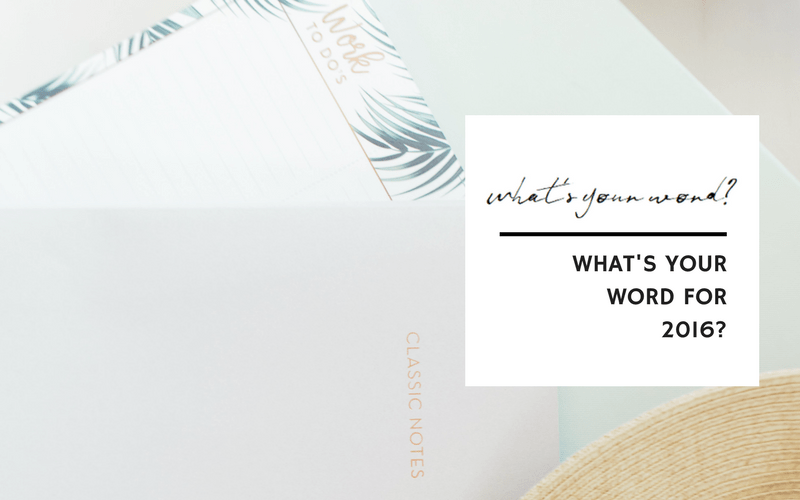 What's your word for 2016? | www.EmergeAndBloom.com Set an intention for the new year and select the word that will guide you