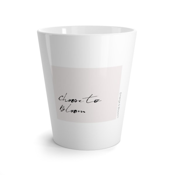 Inspirational gifts for her // Choose to Bloom Latte Mug