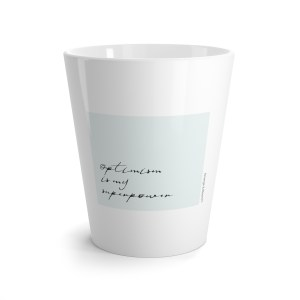 Optimism is my superpower inspirational mug for a special gift