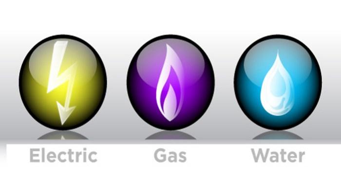 gas electric water utilities