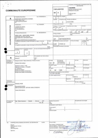 Envoi d'EMERGENT à CONNECTIC dossier douanes françaises EX1 2010_Page13