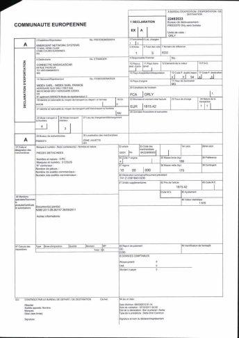 Envoi d'EMERGENT à CONNECTIC dossier douanes françaises EX1 2011_Page25