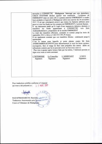 traduction RANARISON Tsilavo enquête police_du 22 juillet 2015 Page_2