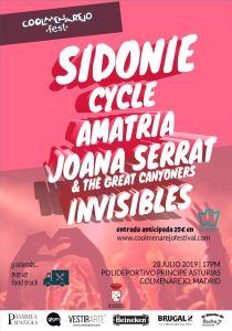 COOLMENAREJO: SIDONIE + CYCLE + AMATRIA + JOANA SERRAT + INVISIBLES @ Polideportivo. Municipal Principe de Asturias Colmenarejo
