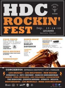 HDC ROCKIN' FEST: DURANGO 14 + LOS DELTONOS + MFC CHICKEN + LOS BRAZOS @ Recinto Ferial
