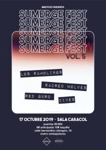 SUMERGE FEST: LOS RAMBLINGS, SACRED WOLVES, RED GURD Y CIVES @ Sala Caracol