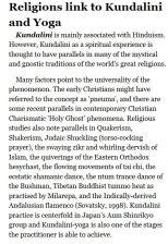 ALL Yoga is linked to Kundalini