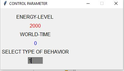 AE5 - Control Window asking for Wanted Behavior Type of Actor (0-2)