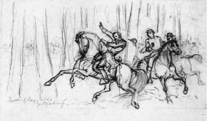 Waud's sketch of Reynolds death.