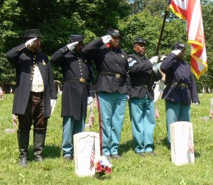 The 23rd USCT at the Fredericksburg National Cemetery.