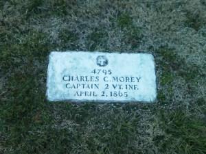 Morey's headstone.