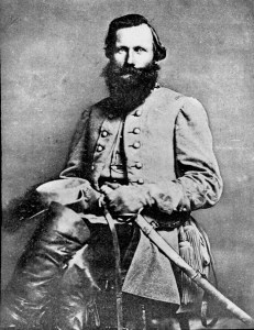 Major General J.E.B. Stuart, who took over command of the Second Corps from Rodes on the night of May 2nd.