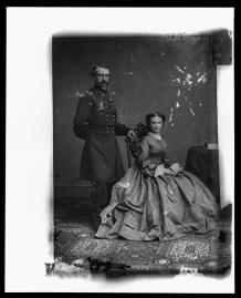 The couple formally met at a Thanksgiving Day party in 1862. (Courtesy of the Library of Congress)