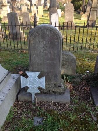 "Grave site of Brigadier General Elisha ""Frank"" Paxton"