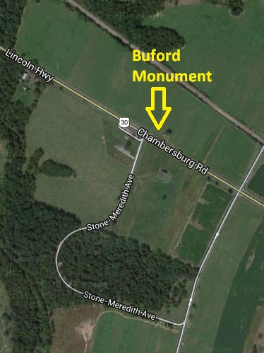 Buford Monument Map