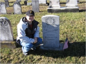 The author at George's Grave in the winter of 2008.
