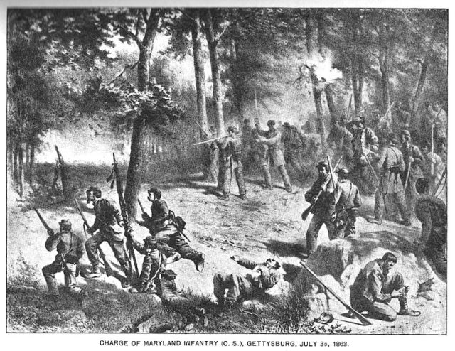 Attack of Maryland Infantry July 3rd