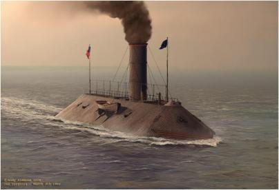 Artist rendering of the CSS Virginia