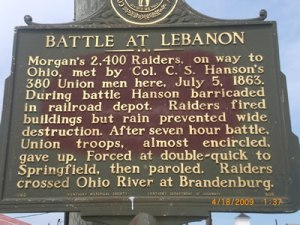Historical Marker at Lebanon