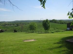 The Custer's backyard.