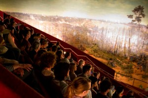 An audience experiences The Atlanta Cyclorama