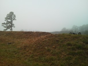 Confederate earthworks captured by the 126th Ohio, April 2, 1865