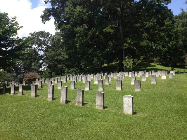 View of Riverside Cemetery, Asheville, North Carolina