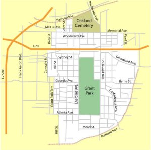 Street Map showing Grant Park