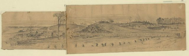 Edwin Forbes sketch - The Battle of Rappahannock Station (Library of Congress)