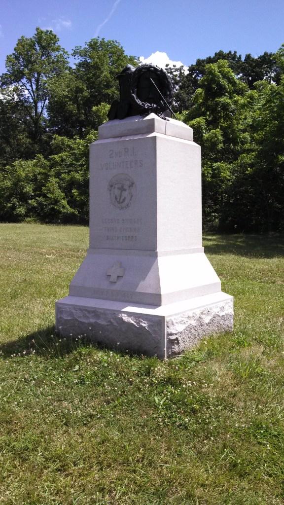 2nd Rhode Island Monument at Gettysburg.