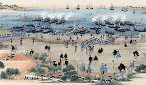 A Japanese Depiction of Commodore Perry's 1854 Expedition