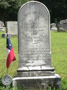 Grave site of Brig. Gen. James G. Martin