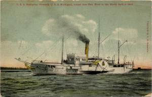 Depiction of the USS Michigan after it was renamed The Wolverine