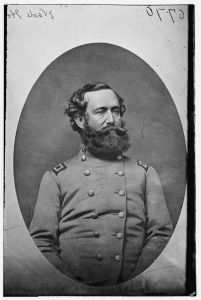 Maj. Gen. Wade Hampton. The South Carolinian, along with Maj. Gen. Fitzhugh Lee, would be in co-command of Confederate cavalry at Haw's Shop. Courtesy of the Library of Congress.