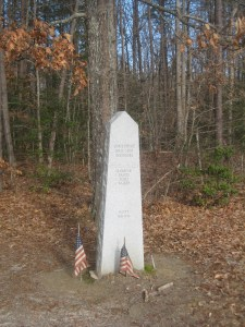 Monument commemorating Upton's Charge at Spotsylvania.