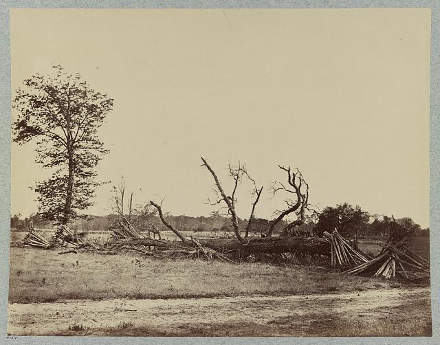 Wartime photo of Confederate defenses at Cold Harbor, taken after the battle. (courtesy of LoC)
