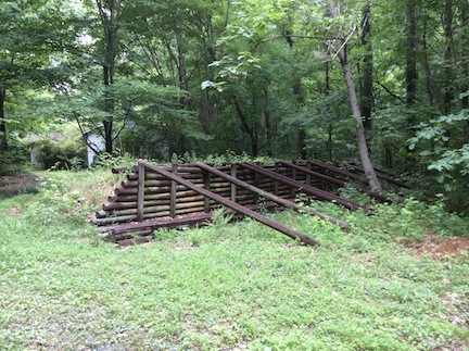 A reconstructed portion of Cleburne's line at Gilgal Church