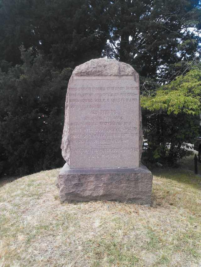 Marker placed by the UDC in 1909