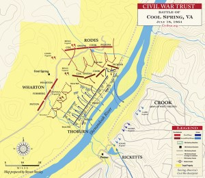 Map by Steven Stanley. Courtesy of the Civil War Trust http://www.civilwar.org/battlefields/cool-spring/cool-spring-july-18-1864.html