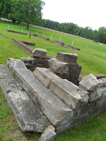 The ruins of the Chancellorsville mansion