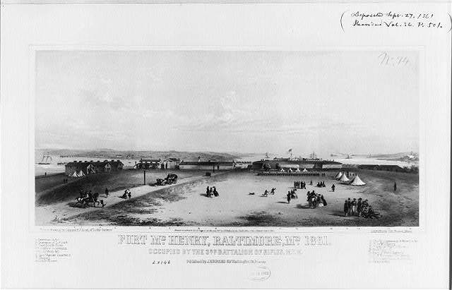 A depiction of Fort McHenry in 1861