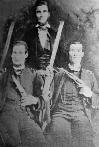 George W. Kirk, on the right, with his brother and father.